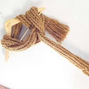 Golden Brown Forever 21 Knit Scarf